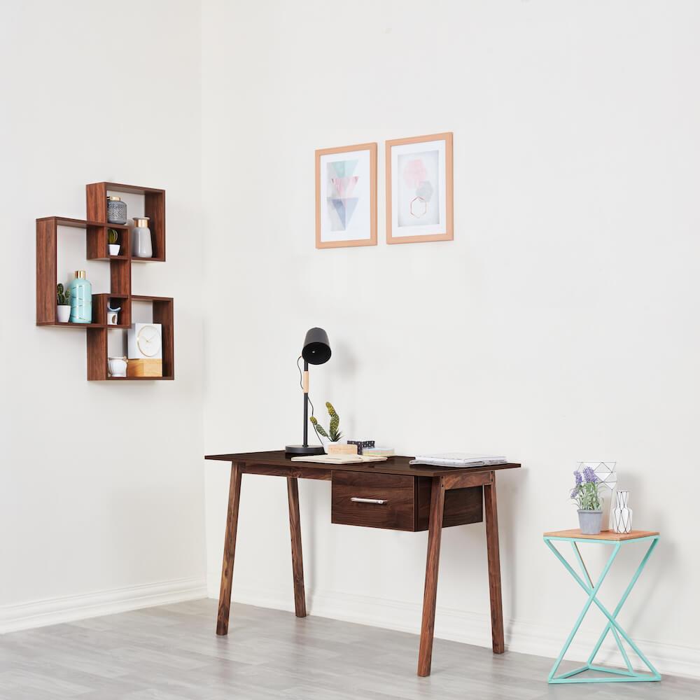 Wakefit Apollo Study Table - Columbian Walnut