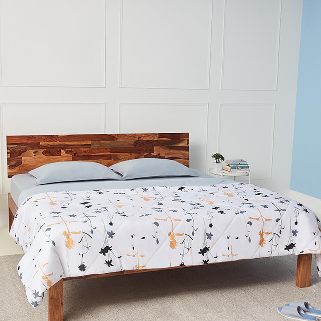 Single Siliconised Microfibre Cotton Printed Comforter