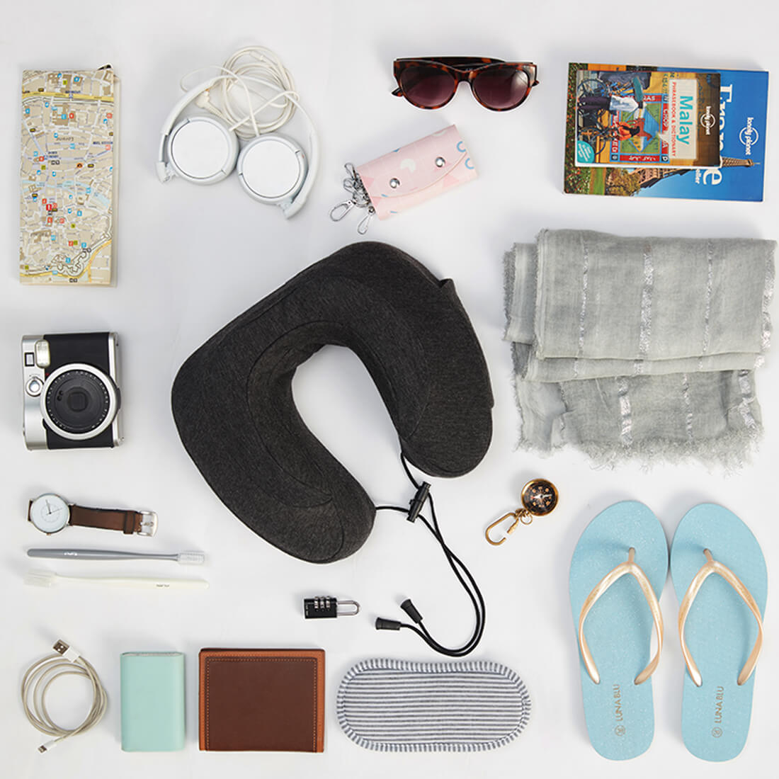 Travel Neck Pillow with One Free Eye Mask