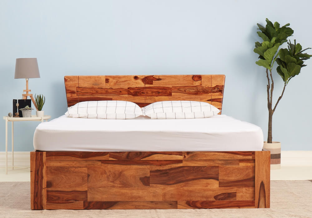 Auriga Sheesham Wood Bed with Storage