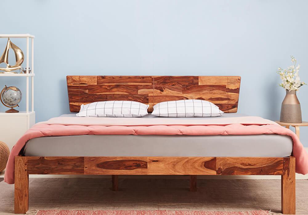 Sheesham wood bed without storage