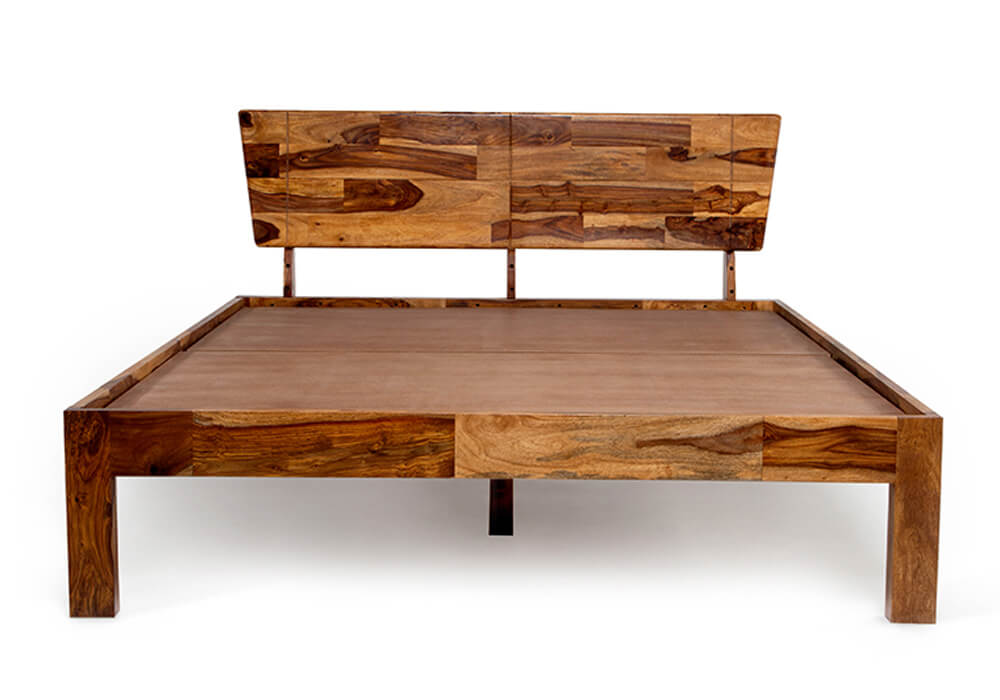 Non storage sheesham wooden double bed