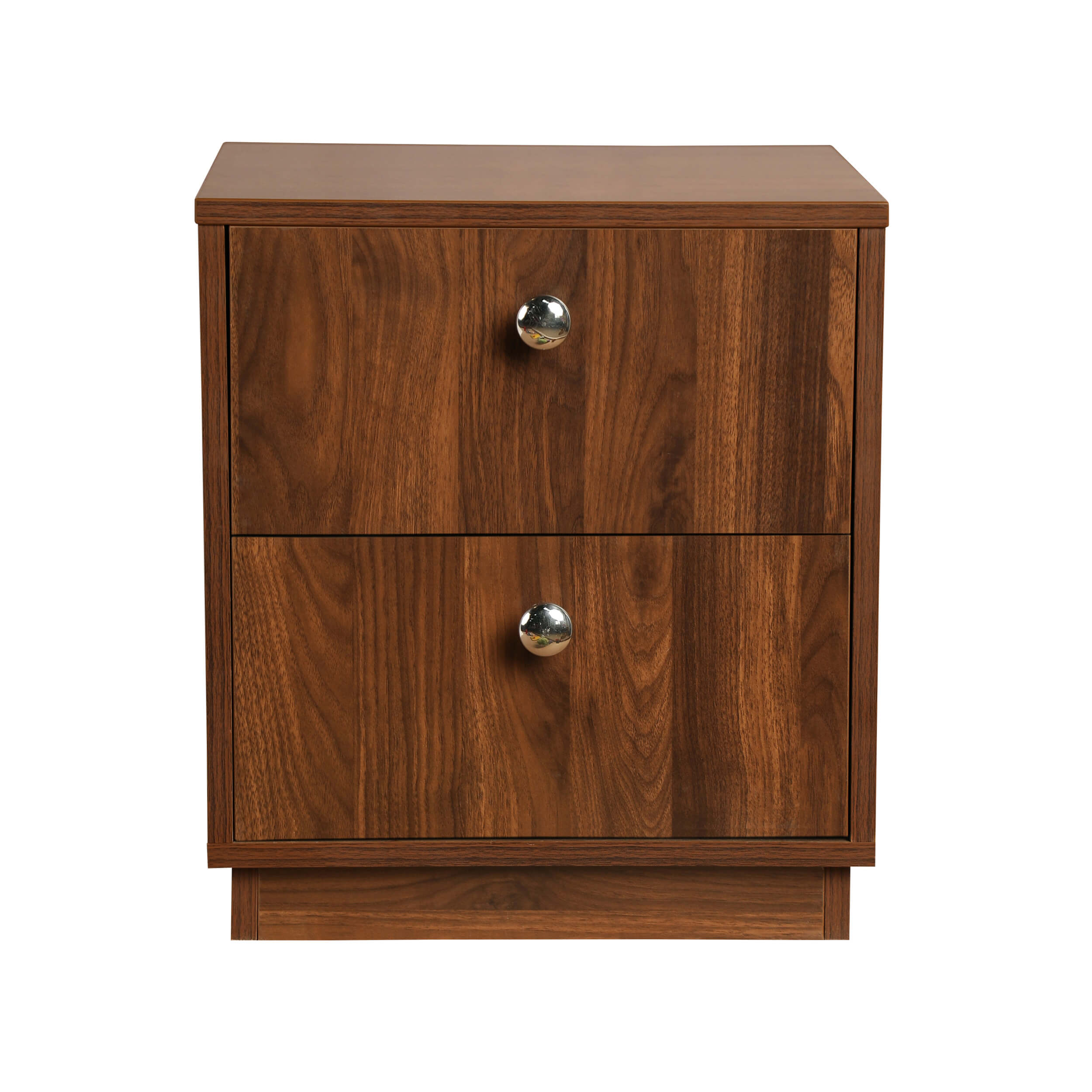 Elara Double Drawer Bedside Table