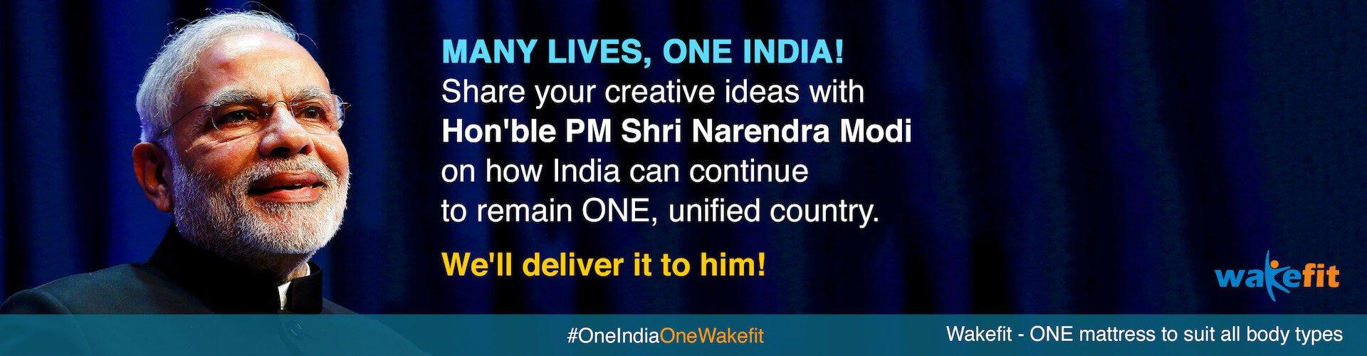 #OneIndiaOneWakefit
