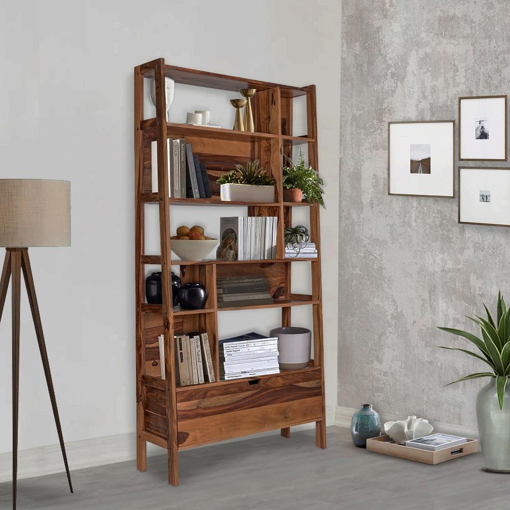 Wakefit Milton Sheesham Wood Bookshelf