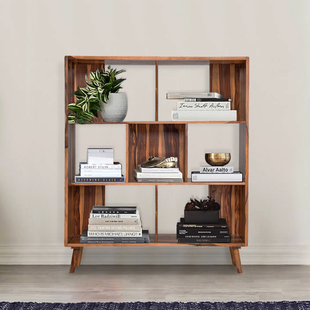 Wakefit Taylor Sheesham Wood Bookshelf