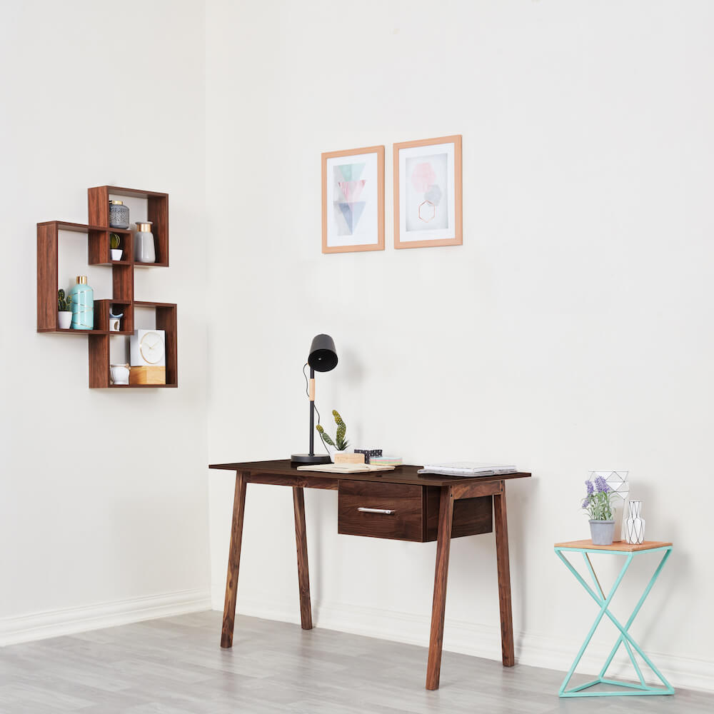 Wakefit Apollo Study Table - Columbian Walnut