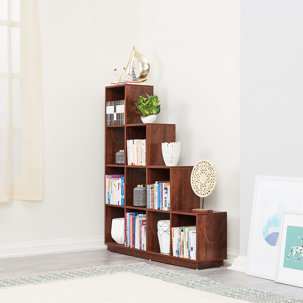 Wakefit Burns Bookshelf (4x4)