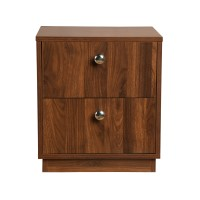 Wakefit Elara Double Drawer Bedside Table