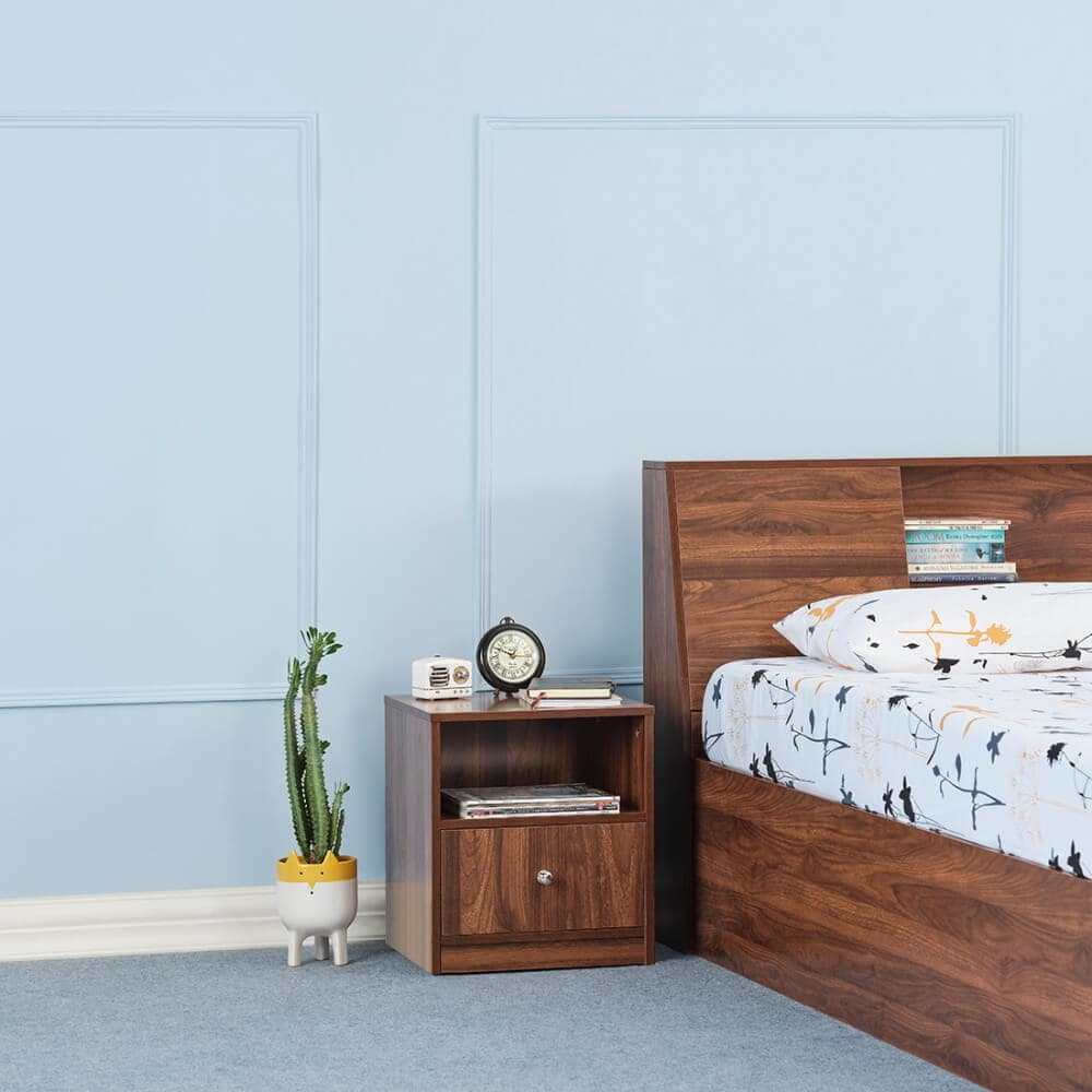 Wakefit Elara Single Bottom Drawer Bedside Table