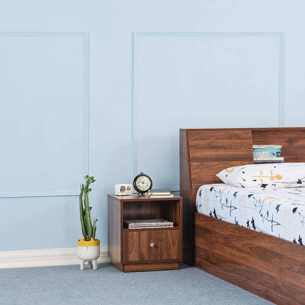 Wakefit Elara Bottom Single Drawer Bedside Table