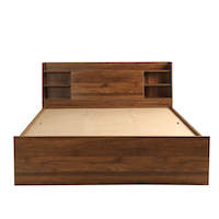 Wakefit Leo Engineered Wood Bed with Storage