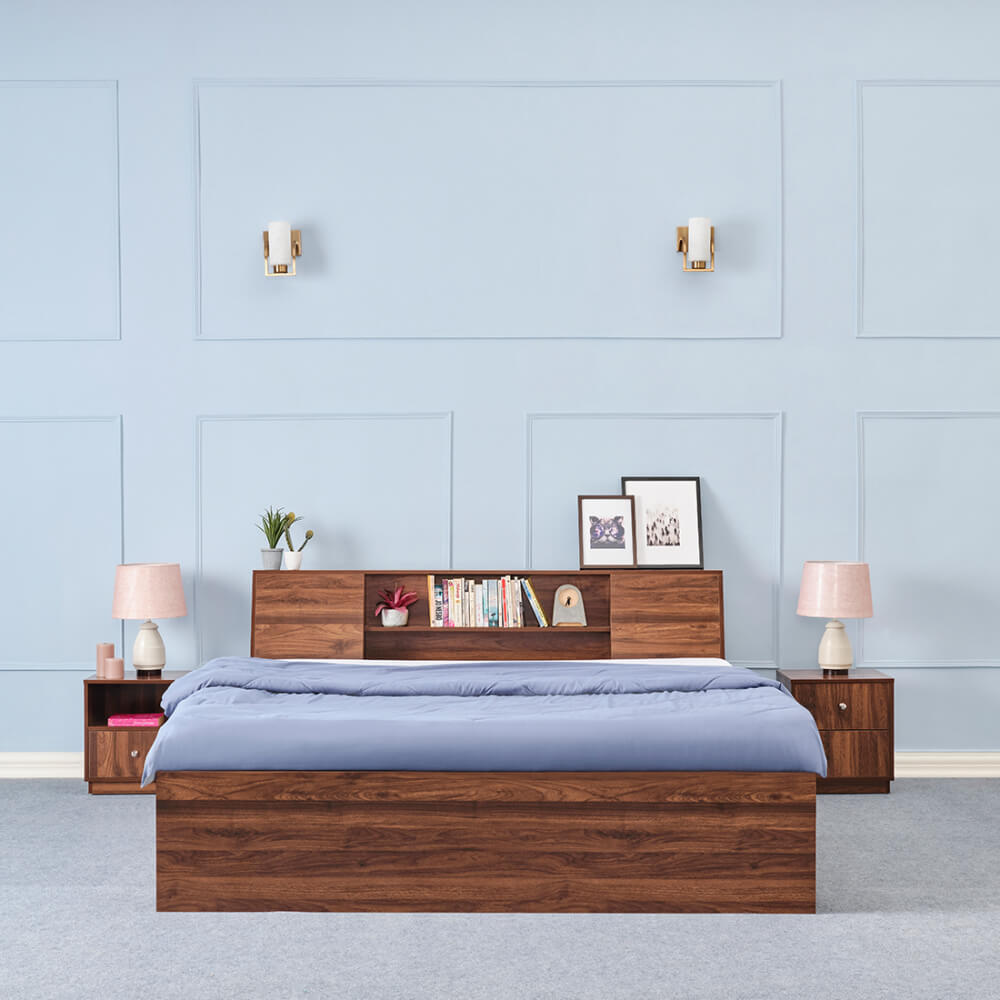 Wakefit Orion Engineered Wood Bed with Storage