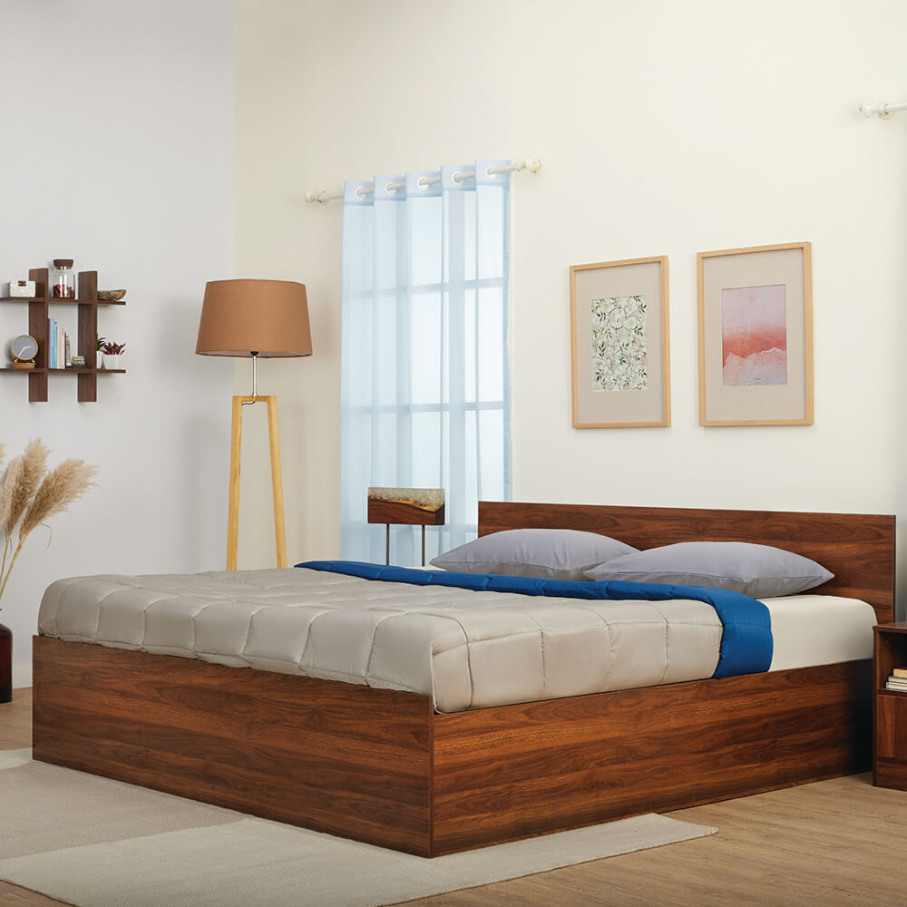Wakefit Taurus Engineered Wood Bed with Storage