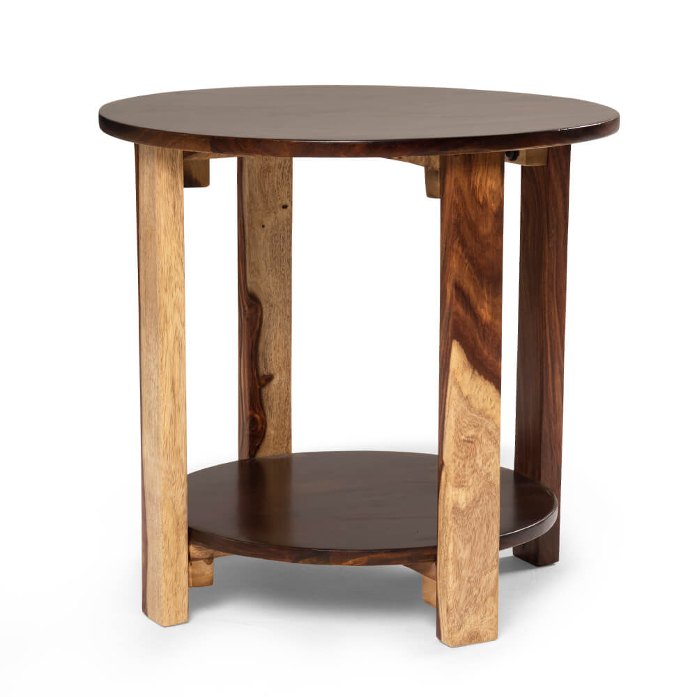 Wakefit Europa Sheesham Wood Side Table