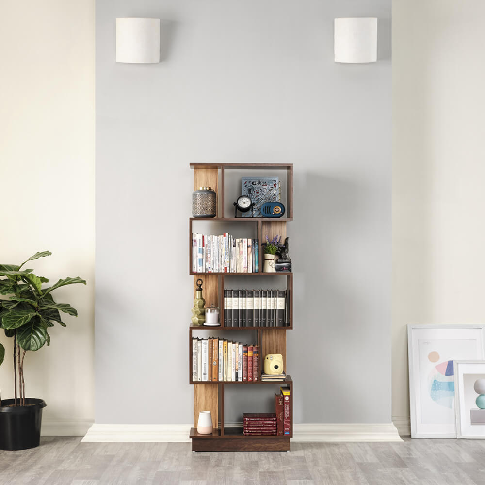Wakefit Plath Bookshelf (5 Shelves)