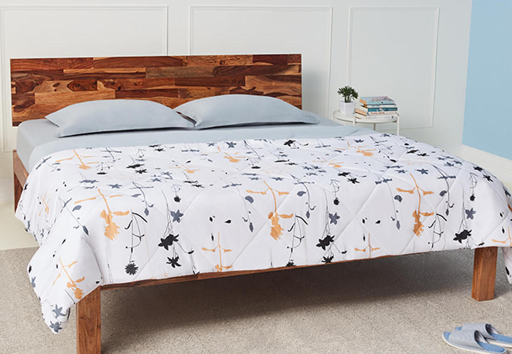 Wakefit Single  Siliconised Microfibre Cotton Printed Comforter (Serene Flora)