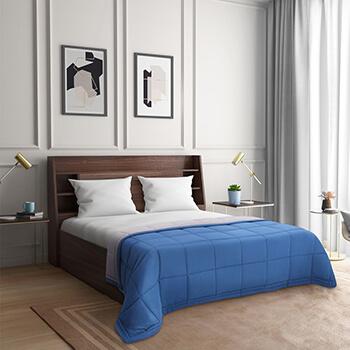 Wakefit Siliconised Microfibre Reversible Comforter (Grey & Dark Teal)
