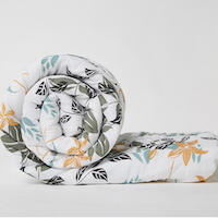 Wakefit Siliconised Microfibre Cotton Printed Comforter (Leafy Bliss)