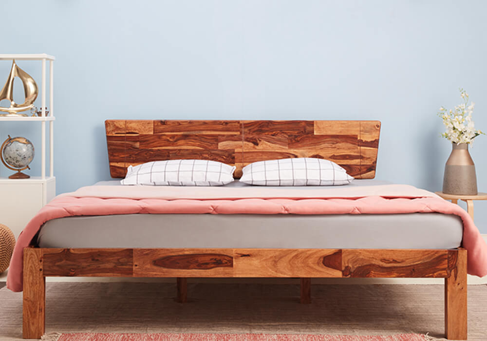 Wakefit Auriga Sheesham Wood Bed <br> <small>(Queen Size Bed & also available with storage)</small>