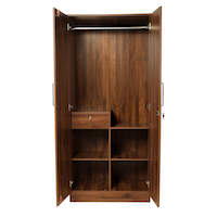Wakefit 2 Door Wardrobe With Drawer