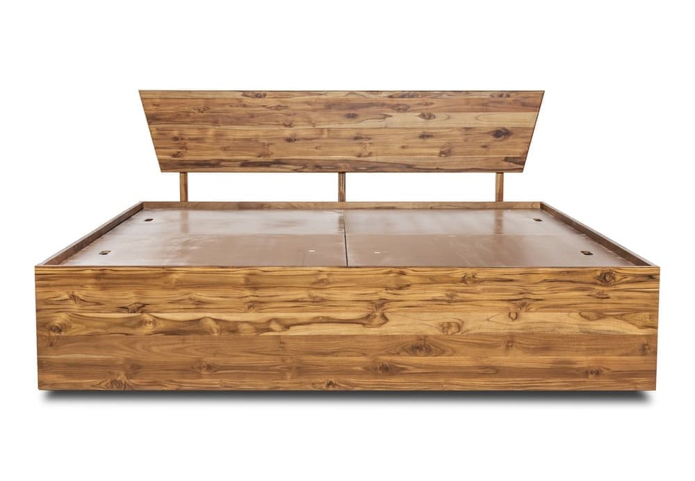 Wakefit Ara Teak Wood Bed With Storage