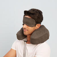 WakeFit Travel Neck Pillow with 1 Free Eye Mask