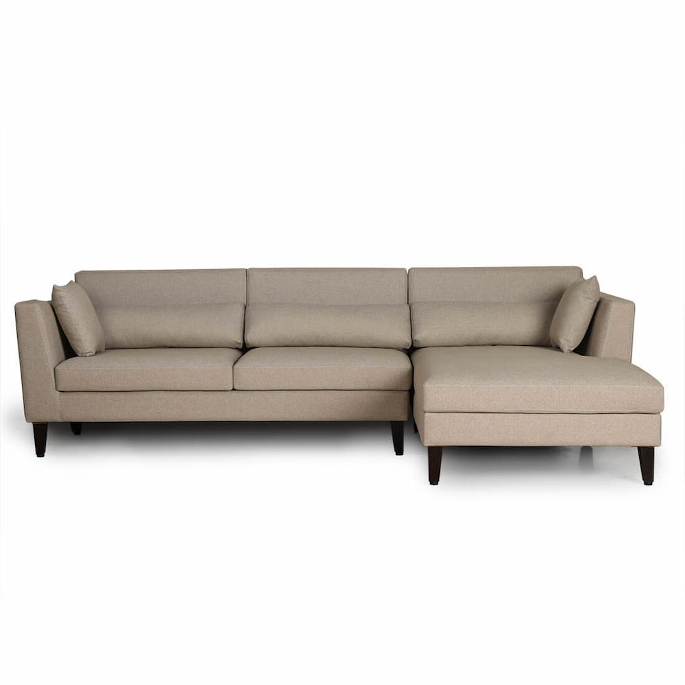 Wakefit Snoozer L Shape Sofa Set (3 Seater + Right Aligned Chaise)