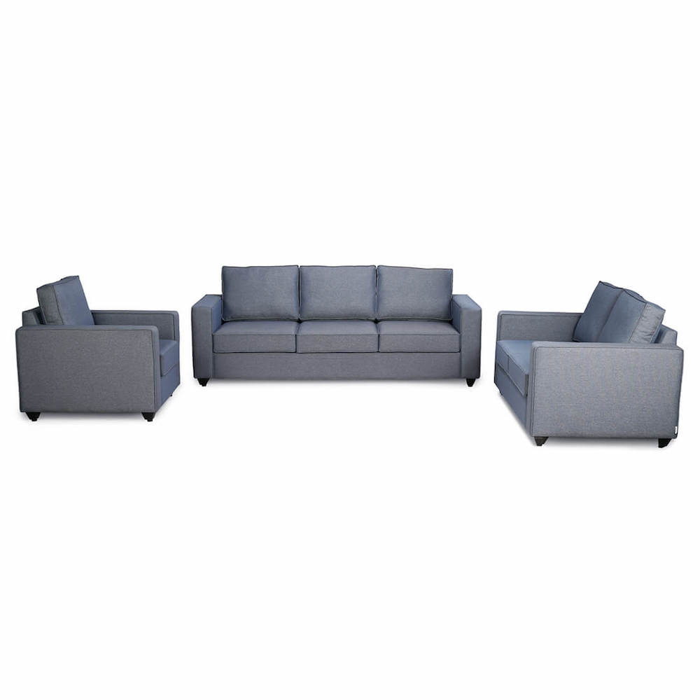 Wakefit Napper Sofa Set (3+2+1) - Omega Blue
