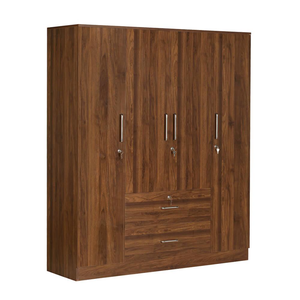 Organza 4 door wardrobe with drawer
