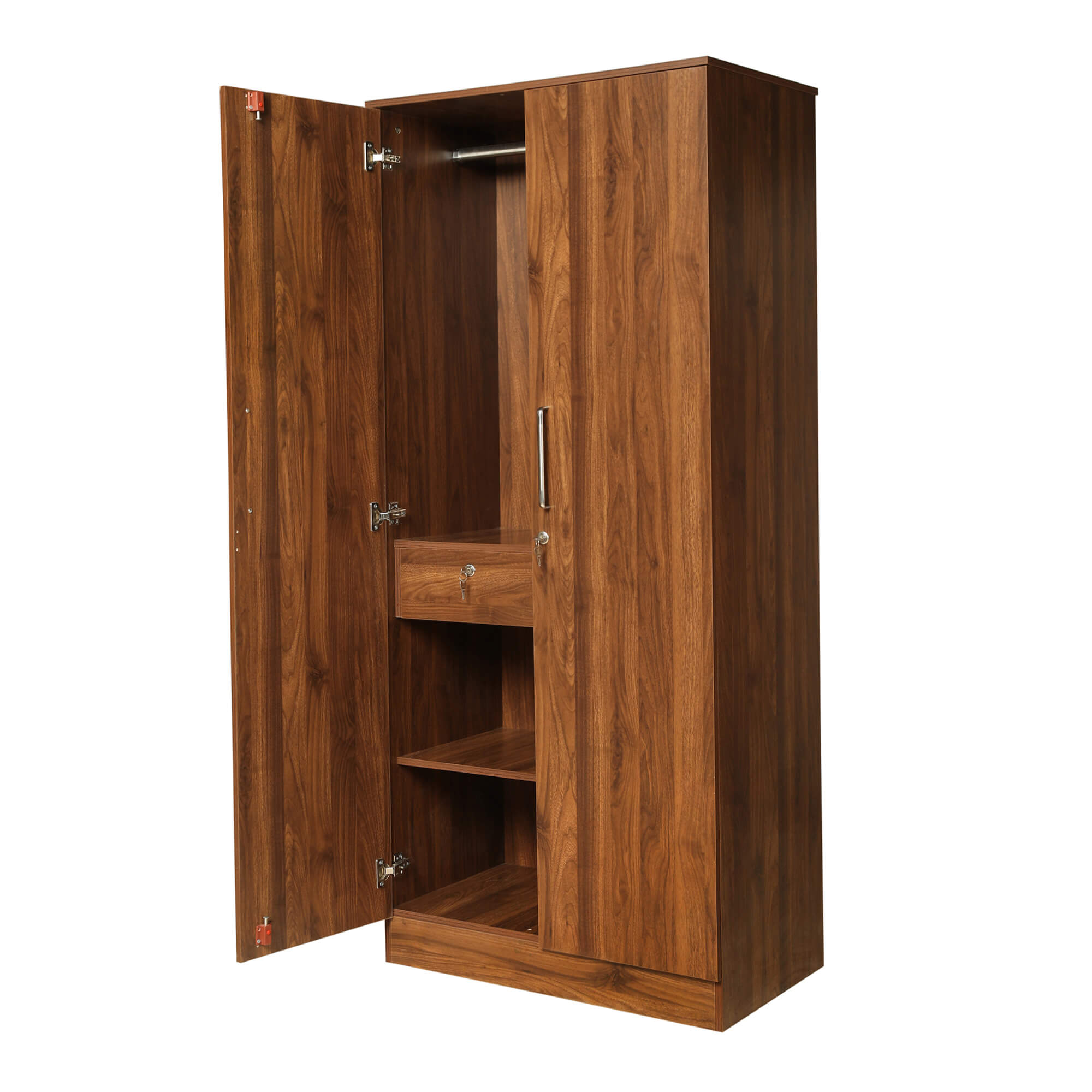 Tartan 2 door Wardrobe with Drawer