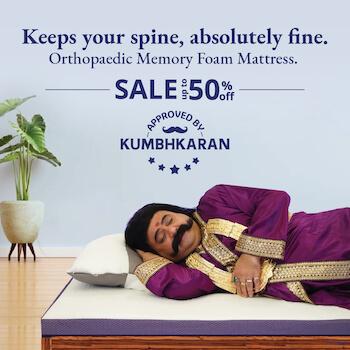 Early Diwali Mattress Sale Banner