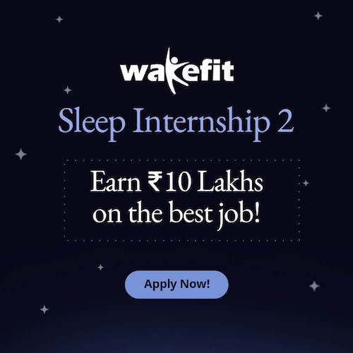 Sleep Intern Job Apply Banner