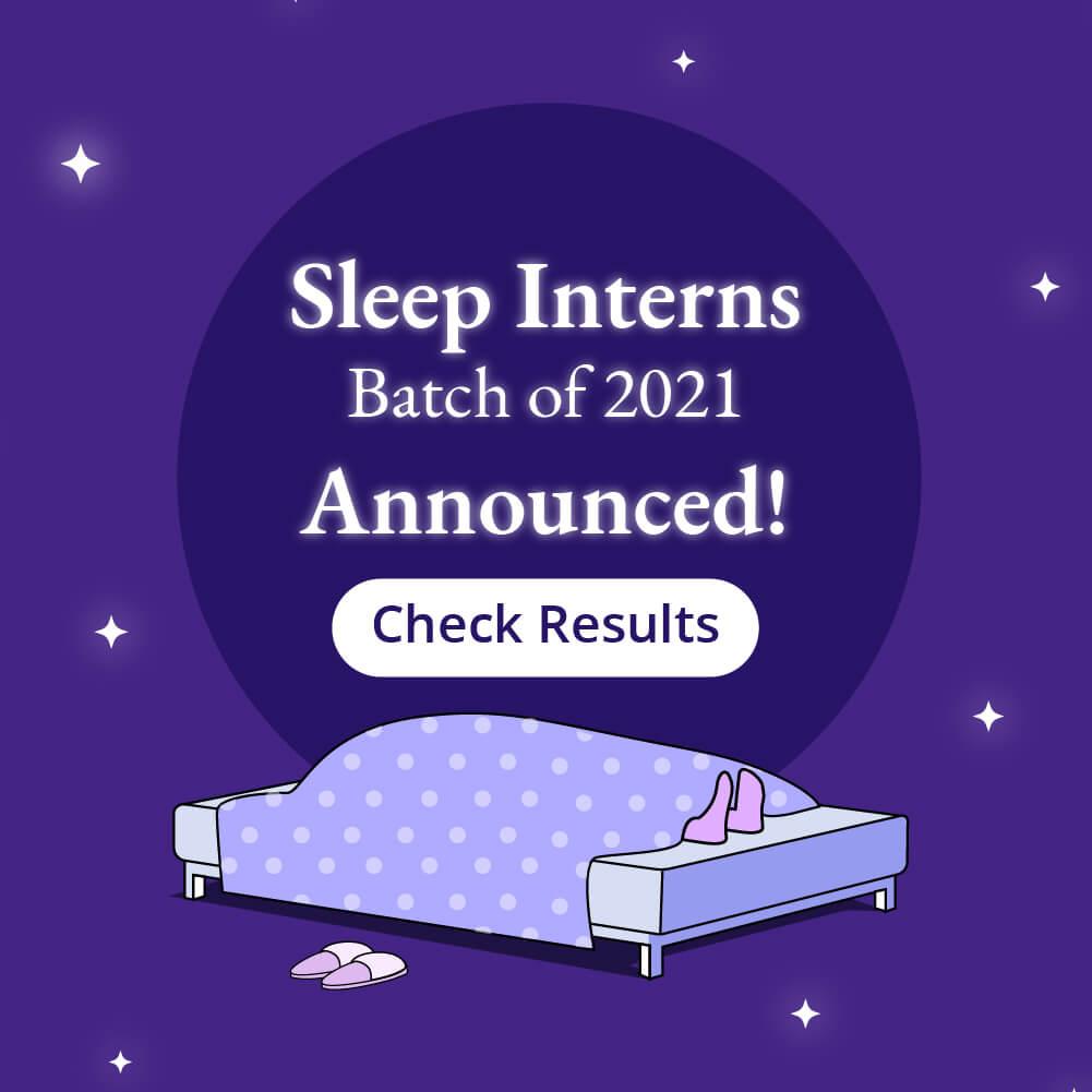 Sleep Intern Job Apply Banner